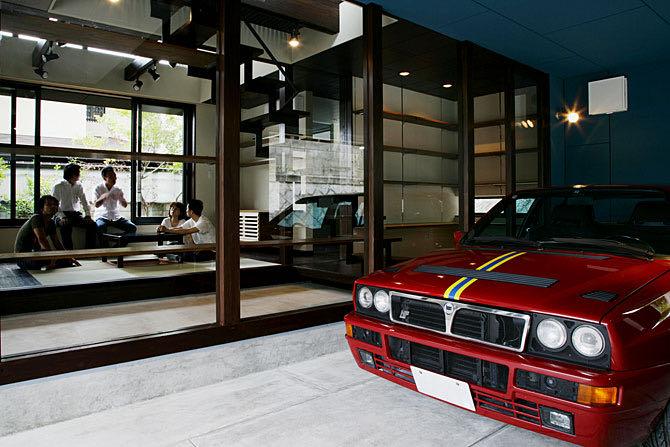 生駒のガレージハウス・奈良 ガレージ