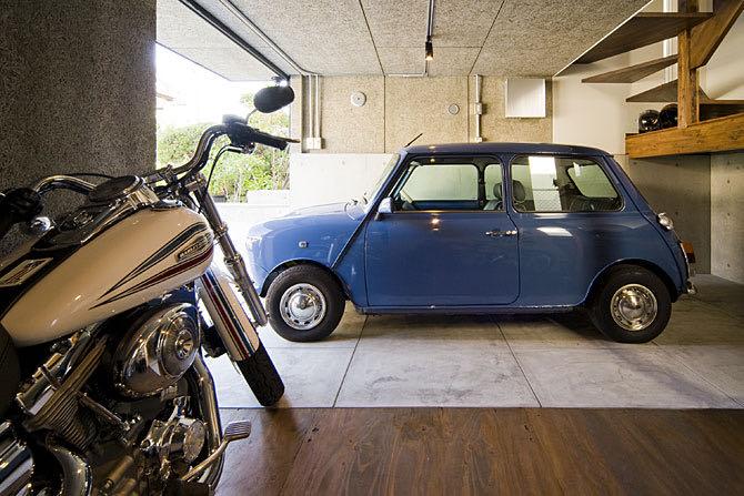 ガレージのある家17 柏原のガレージハウス