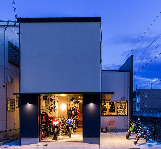 京田辺のガレージハウス・京都 外観