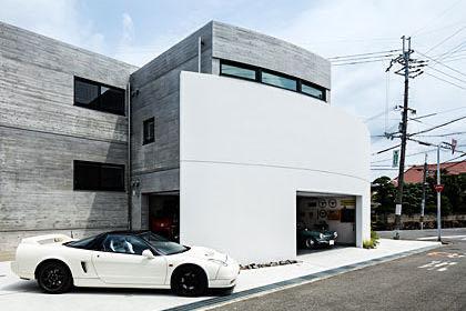 堺のガレージハウス 外観
