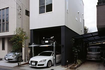 大島のガレージハウス・東京 ガレージ