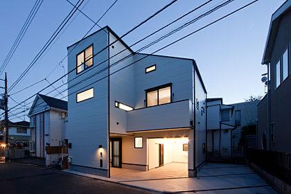 田園調布のガレージハウス・東京 外観
