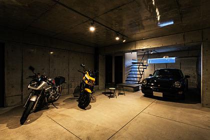 伏見のガレージハウス・京都 ガレージ内