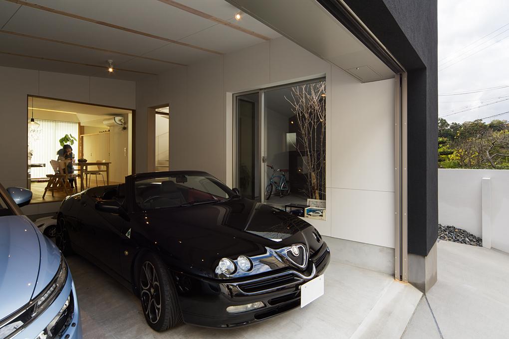 西岡本のガレージハウス3・神戸 ガレージ