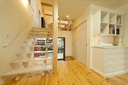愛甲石田のガレージハウス 階段