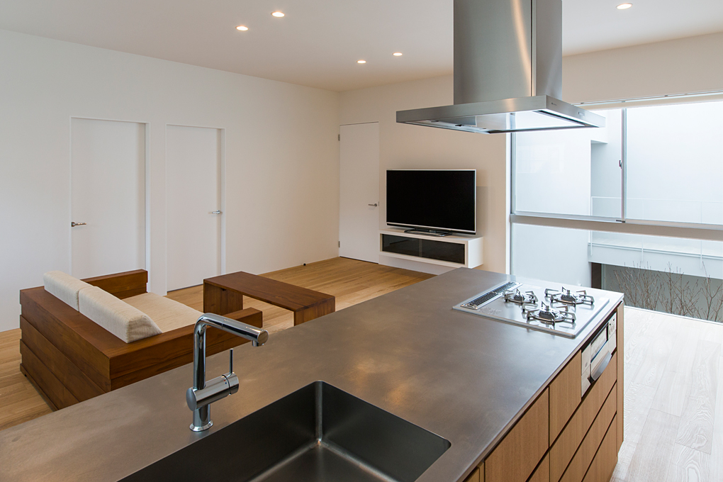 垂水のガレージハウス キッチン