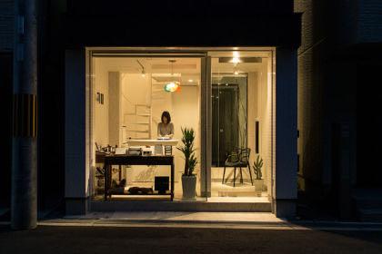 淀川の狭小店舗併用住宅 店舗外観